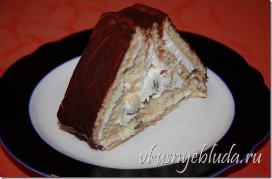 """Прочтите доступный Рецепт быстрого домашнего Торта """"Творожный Домик""""..."""