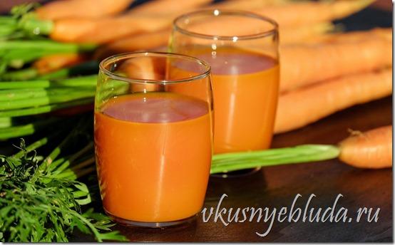 На этом фото показан Морковный сок, который отлично утоляет жажду и невероятно полезен для здоровья!..